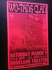 Wu-Tang Clan Old Ol Dirty Bastard ODB Method Man Raekwon RZA GZA Concert Poster
