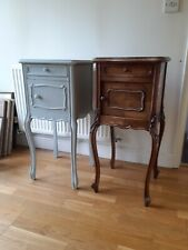 More details for pair of french antique bedside tables