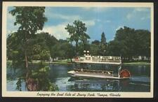 Postcard Tampa Florida/Fl Little Fairy Queen Riverboat Tour view 1950's