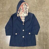 Authentic Childrens Burberry London Nova Check Hooded Rain Jacket Size Large