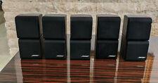5x Bose REDLINE BLACK Double Cube Speakers Acoustimass / Lifestyle 5/20/25/30
