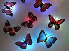 HOW PRETTY! TWO 3D LIGHT UP WALL STICKERS BUTTERFLIES ! FREE POST AUSSIE SELLER