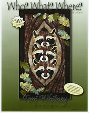 Who? What? Where?, Toni Whitney Design, Raccoons in Tree, DIY Quilt Pattern