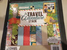 """DCWV DIe Cuts With a View the The Travel adventure stack 12""""x12"""" 48 - paper foil"""