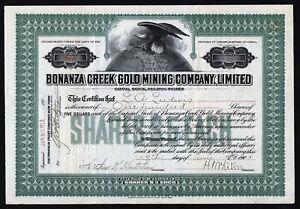 1903 Ontario, Canada: Bonanza Creek Gold Mining Company - Klondike