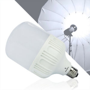 Photography LED Light Photo Studio Bulb Daylight White Light Lamp E26 30W 6000K