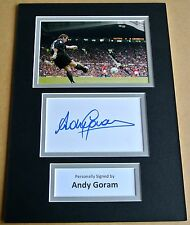 ANDY GORAM SIGNED autograph A4 Photo Mount Display MAN UTD Football PROOF & COA