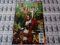 Suicide Squad (2011) DC - #1, 1st Print, Harley Quinn CVR, Glass, NM- (New 52)
