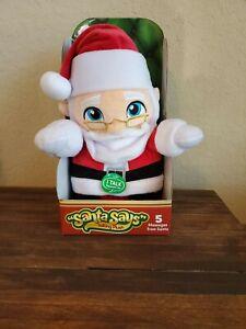 Elf on the Shelf Santa Says Classic Christmas Cuddly Talking Plush 5 Messages