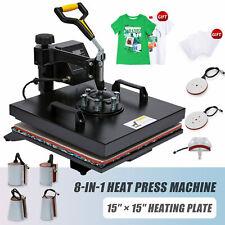 360 Swing Away Press 8 In 1 T Shirt Heat Press Machine For Cups Mugs More 15x15