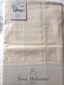 Yves Delorme 1200 NATUREL PERCALE EURO Pillowcase