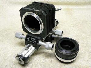 Vintage CANON Bellows FL Macro Photography Unit -FD/FL Mnt w/ Macrophoto Coupler