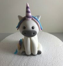 Handmade Edible Fondant Unicorn Model cake Toppers Girls Baby's Birthday