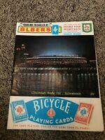 1971 Cincinnati Reds Baseball Scorebook vs San Diego Padres - Scored Rose Bench