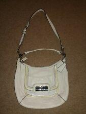 COACH: Kristin Convertible Ivory Leather Hobo Crossbody Bag