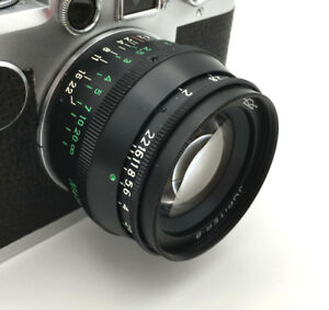 Jupiter-8 LTM Leica Thread Mount 50 mm F:2 Lens Black Sonnar Copy EXC from Fedka