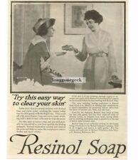 1918 Resinol Soap Lejaren A. Hiller photo Vtg Print Ad