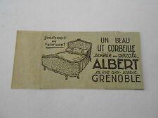 Un beau Lit Corbeille ALBERT à Grenoble Publicité Ancienne 1951