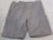 NORTH FACE mens Large dark khaki wicking hiking fishing shorts