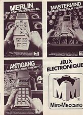 PUBLICITE ADVERTISING 034 1981 MIRO-MECCANO  jeux electroniques