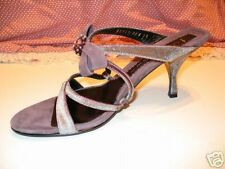 CASADEI JEWELED VELVET CRISCROSS STRAPPY SLIDES SZ 8.5