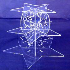 Trois Niveaux Transparent Acrylique étoile piliers de Mariage & anniversaire