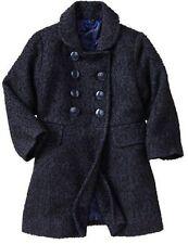 New Girls Gap Navy Double Breast Boucle Jacket Coat Size 4-5