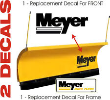 MEYER Snow Plow Decal 2 Pc. Kit with 1 large Front Blade & Frame Decal Set (MB1)