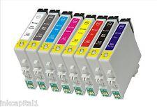 8 x Cartucce di inchiostro non-OEM alternativa per Epson Stylus Photo r800, r1800