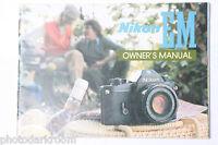 Nikon EM 35mm Camera Instruction Manual Book - English - Japan - USED B18