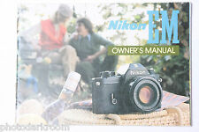 Nikon EM 35mm Camera Instruction Manual Book - English - Japan - USED B18