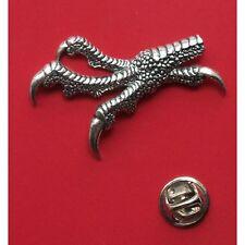 English Pewter Hawk Bird Talons Claws Pin Badge Tie Pin / Lapel Badge (XTSBPB36)