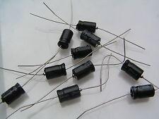 Condensatore Elettrolitico assiale 25v 100uF 85'C 10 PEZZI OL0064