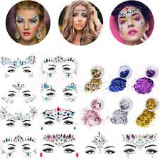 10Set Face Body Gems Rhinestone jewels adhesive Festival Party +6Set Glitters