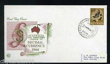 1966 COCOS KEELING ISLANDS /AUSTRALIA Change to  Decimal currency 10c Fish FDC