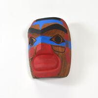 Native Warrior Mask Red Cedar Northwest Coast Art