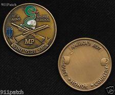 """US ARMY SNIPER SCHOOL MP VINI VIDI VICI CHALLENGE COIN 1-1/2"""""""
