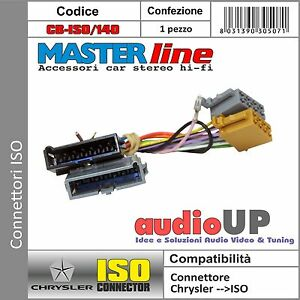 CONNETTORE ISO RADIO ORIGINALE CHRYSLER C-300 1998 AL 2001. ADATTATORE AUTORADIO