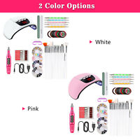 Practical Portable UV Lamp LED Dry Nail Kit Manicure Nail Tool Set Acrylic Nail