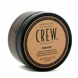 American Crew Men Pomade (Medium Hold with High Shine) 85g Styling Hair Pomade