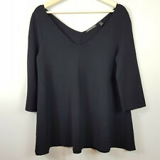 [ COUNTRY ROAD ] Womens Black Milano Trapeze Knit Top    Size XS or AU 8 or US 4