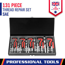 131-Piece SAE Imperial Helicoil Kit Thread Repair Set HSS Drill Tap Insert Case