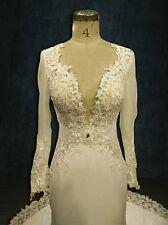 Wedding Dress, Berta, Mermaid, Sheath Low Neckline, Long Sleeves, Lace, Illusion