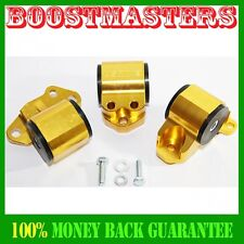 Engine Torque Mount Kit fit 92-95 Honda Civic 93-97 Honda Civic Del Sel GOLD
