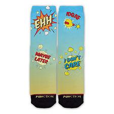 Function - Comic Book Socks Funny Novelty classic vintage snap millennial idgaf