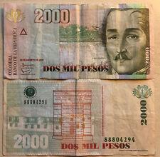COLOMBIA 2000 PESOS 2013 BANCONOTA MOLTO RARA DA COLLEZIONE