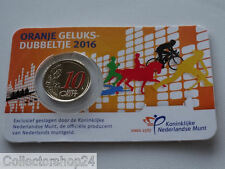 Netherlands Orange Lucky 10 Cents 2016 in coincard NEW ISSUE