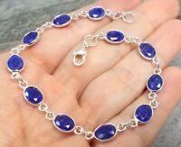 925 Silver Cut SAPPHIRE Bracelet B826~Silverwave*uk Jewellery