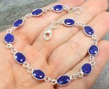 925 Silver Cut SAPPHIRE Bracelet B966~Silverwave*uk Jewellery