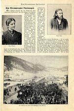 Vom Oberammergauer Passionspiel Eröffnung der neuen Bahnlinie nach Murnau v.1900